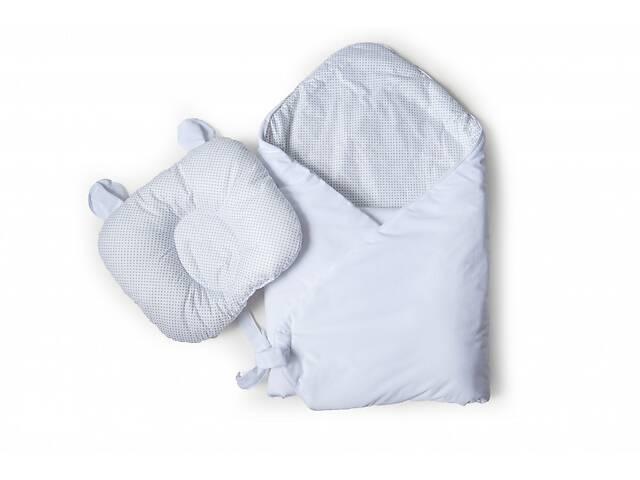 бу Набор конверт - плед и подушка Twins для новорожденного Bear 9064-TB-01, белый в Києві