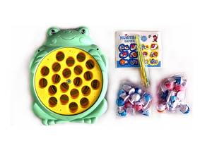 """Набор игровой детский на батарейках """"Рыбалка"""" Qunxing, 26 предметов"""