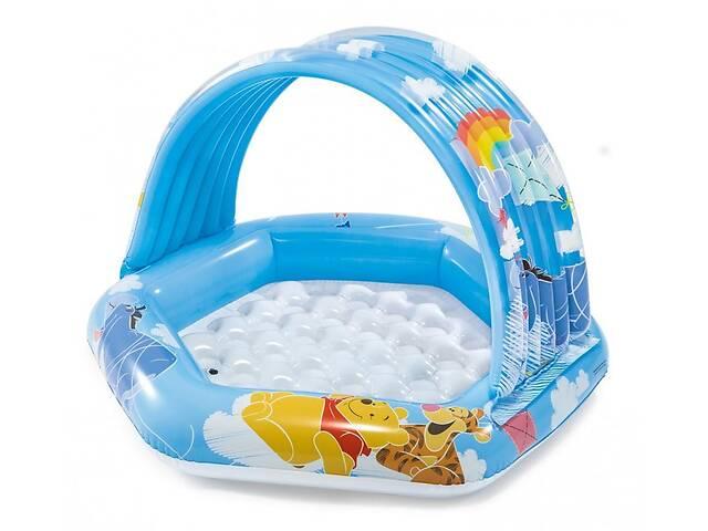 бу Надувной бассейн детский круглый с навесом Винни Пух Intex на 41 литр, голубой в Киеве