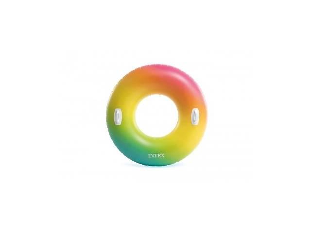 купить бу Надувной круг 122 см Цветной Вихрь с ручками до 100кг от 9 лет SKL11-292208 в Харькове