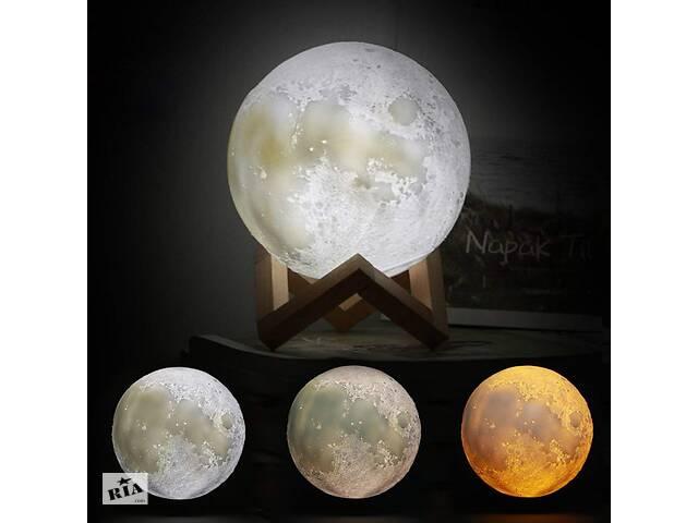 продам Ночной светильник в виде луны 3D Moon Light 15 см сенсорный на 5 режимов как ночник для ребенка Разный цвет луны бу в Киеве