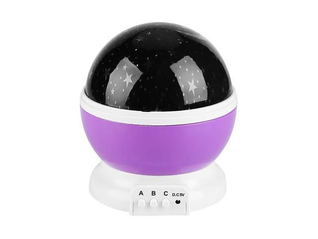 продам Ночник проектор звездного неба, ночной светильник, Star Master Dream Rotating, цвет - фиолетовый бу в Киеве