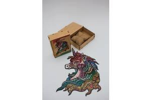 Пазл из дерева& ldquo; Радужный Единорог& rdquo;