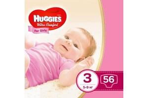 Подгузник Huggies Ultra Comfort 3 Jumbo для девочек (5-9 кг) 56 шт (5029053565354)