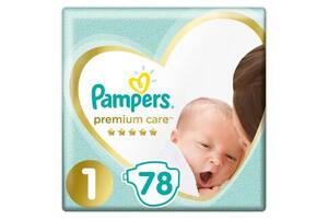 Подгузник Pampers Premium Care New Born Размер 1 (2-5 кг) 78 шт (8001841104836)