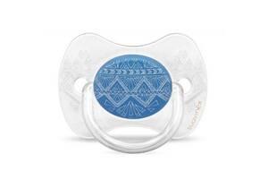 Пустышка Suavinex Couture, 0-4 мес.,симметричная синий (304211)