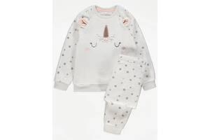 Пижама плюшевая флис для девочки единорог 210903