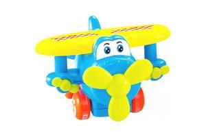 Развивающая игрушка BeBeLino Инерционный самолетик (голубой) (58153-1)