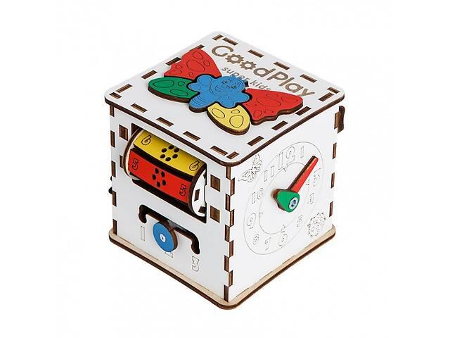 """Развивающий бизиборд GoodPlay """"Кубик развивающий: Малыш"""" 12×12×12, разноцветный- объявление о продаже  в Киеве"""