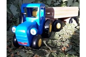 Ручная работа.Деревянный Трактор с Прицепом.