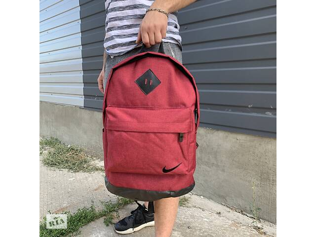 Рюкзак городской мужской, женский, для ноутбука   Nike (Найк) черный-красный (бордовый)- объявление о продаже  в Харькове