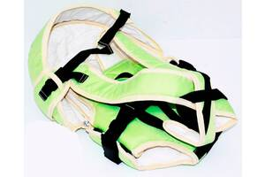 Рюкзак кенгуру, лежа, салатовый, предназначен для детей с двухмесячного возраста SKL11-181647