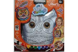 Сумка раскраска сова с красками для девочки