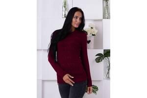 Удобный ажурный свитер 218