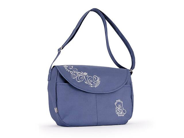 купить бу Универсальная сумка длядетскойколяскиBaby Breeze 0355 с водоотталкивающей пропиткой серо-голубая в Львове