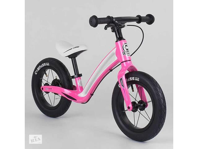 """Велобег детский с магниевой рамой и задним ручным тормозом Corso """"Prime C7"""" Black/Pink (98688)- объявление о продаже  в Одессе"""