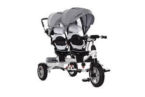 Велосипед для двойни трёхколёсный  3116, колеса резина