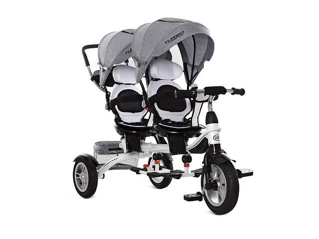 продам Велосипед для двійні триколісний 3116, колеса гума бу в Дніпрі (Дніпропетровськ)