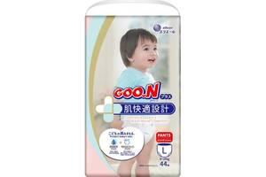 Японские трусики-подгузники для детей 6-12 кг L унисекс 44 шт GOO.N Plus (843340)