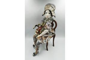 Интерьерная подвижная кукла Пьеро