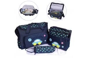 Женский набор сумок для мам с ковриком TRAUM Cute as a Button Темно-синий