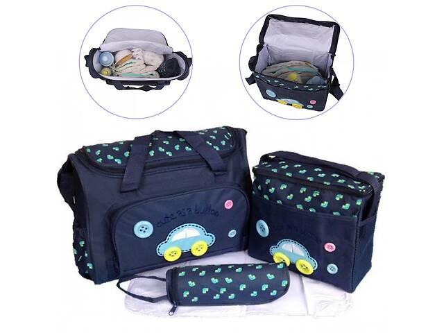 купить бу Женский набор сумок для мам с ковриком TRAUM Cute as a Button Темно-синий в Одессе