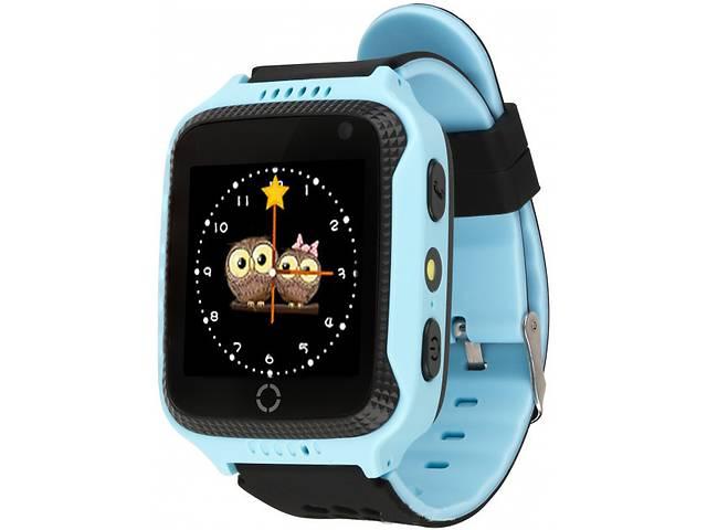 купить бу Детские умные GPS часы UWatch Q529 с камерой и фонариком голубой в Києві