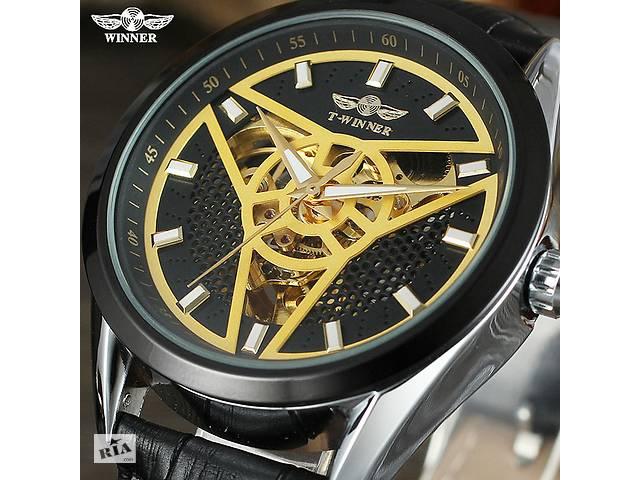 купить бу Механические часы T- Winner оригинал маятник кожаный ремешок в Кривом Роге