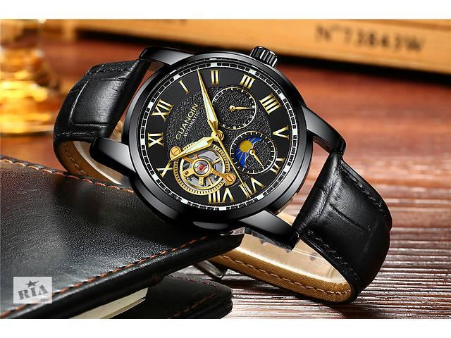 Чоловічі класичні механічні наручні годинники Guanqin. Гарантія 1 рік.  Безкоштовна доставка.- объявление 1aaa4b80a4fb7