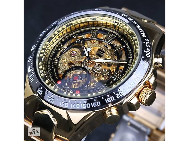купить бу Чоловічі механічні наручні годинники Winner Action. Гарантія 12  місяців. Два кольори. 0570b436b833c