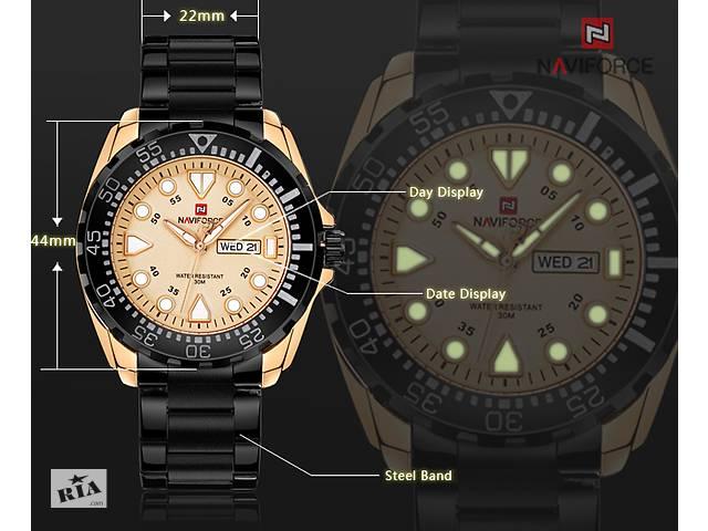 Мужские наручные часы NAVIFORCE 910 Водонепроницаемые 30М ... 5f04c4db372e6