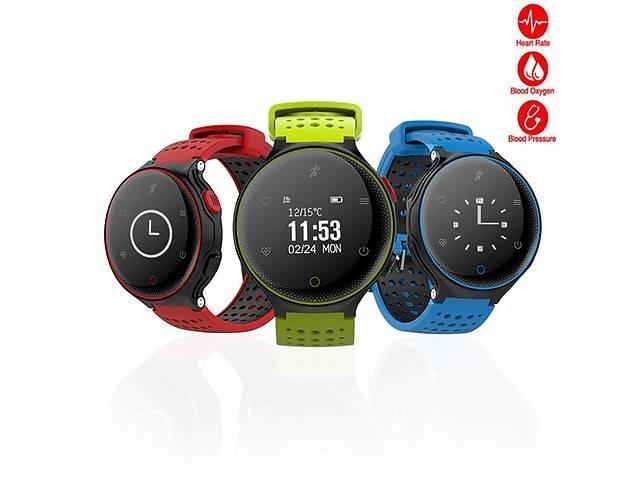продам Розумний водонепроникний годинник браслет Fitness smartband X2 RAZY IP68 Blue Пульс. Тиск бу в Києві