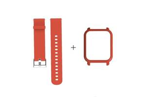 Amazfit Bip Комплект для смарт часов (ремешок и бампер), Orange