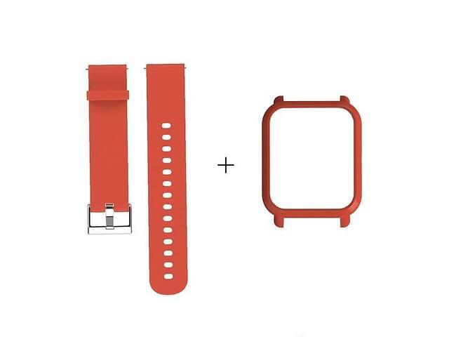 купить бу Amazfit Bip Комплект для смарт часов (ремешок и бампер), Orange в Запорожье