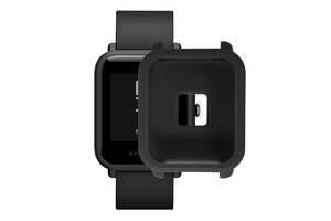 Amazfit Bip Защитный силиконовый чехол для смарт часов, Black