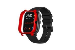 Amazfit GTS Защитный бампер для смарт часов, Red