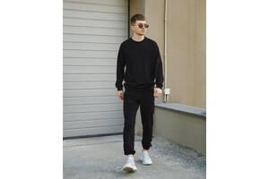 Базовый спортивный костюм Соул New.Купить черный свитшот штаны недорого в Украине.