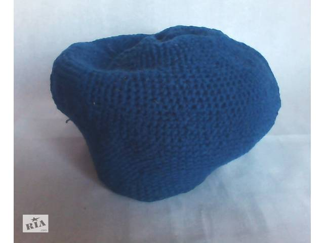 продам Берет женский синий шерстяной вязаный бу в Полтаве