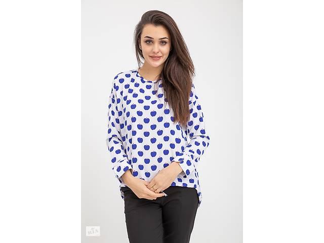 Блузка женская 115R286D цвет Бело-синий- объявление о продаже  в Одессе