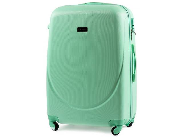 купить бу Большой чемодан из пластика  Wings салатовый на 86л в Киеве