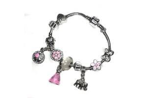 Браслет розовый со слоном SKL11-238149