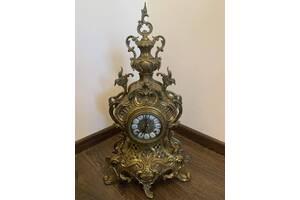 Бронзові старовинні камінний годинник антикваріат