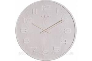 "Часы настенные ""Wood Wood Medium"", белые"