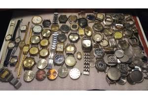Часы и механизмы на ремонт, луч, слава, заря, звезда, кварц, 40+ штук.