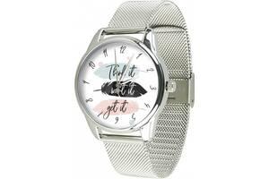 Часы ZIZ Думай желай получай (ремешок из нержавеющей стали серебро) + дополнительный ремешок (5021388)