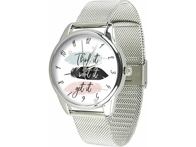 Часы ZIZ Думай желай получай (ремешок из нержавеющей стали серебро) + дополнительный ремешок (5021388)- объявление о продаже  в Мелитополе