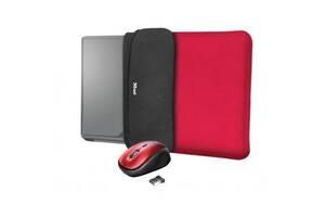 """Чехол для ноутбука Trust Yvo Mouse & Sleeve 15.6"""" Red + mouse (23455)"""