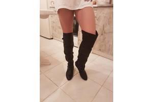 Чорні чоботи ботфорти