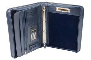 Деловая папка с калькулятором из эко кожи AMO SSBW04 синий