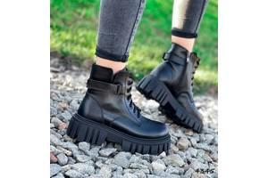 Демисезонные кожаные женские ботинки на байке женские ботинки nina, кожаные ботинки 36-40р код 4345
